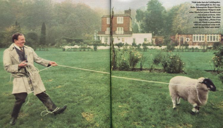 Rupert Davies und sein Schaf