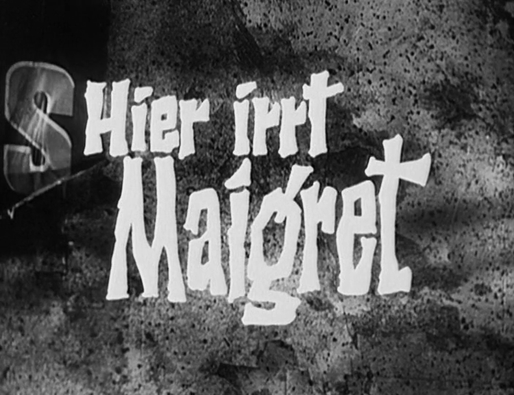 Titel von »Hier irrt Maigret«
