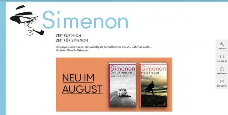 Simenon-Webseite von Atllantik