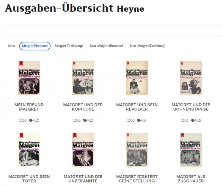 Verlagsausgaben von Heyne