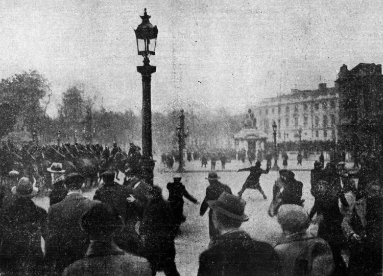 Place de la concorde am 7. Februar 1934