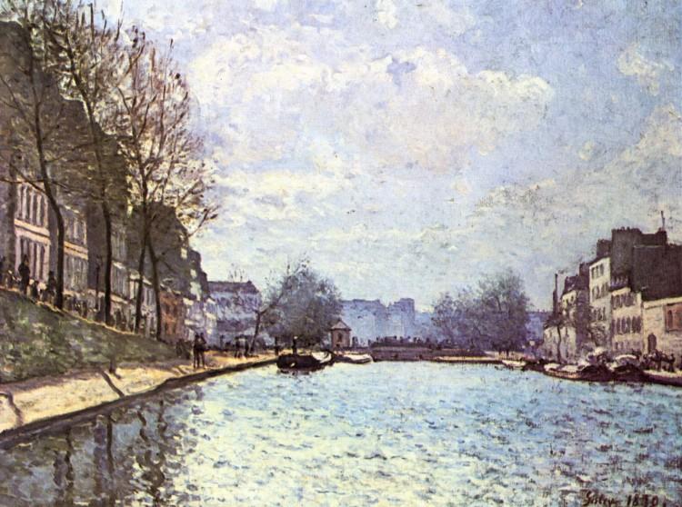 Alfred Sisley –Vue du canal Saint-Martin à Paris