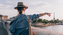 Woman Tourist in Paris