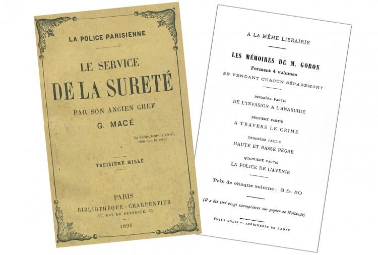 Titel der Werke von Macé und Goron