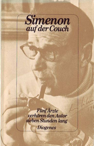 simenon auf der couch von georges simenon. Black Bedroom Furniture Sets. Home Design Ideas